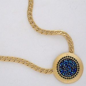 Blue Crystal Pendant Morocco Style